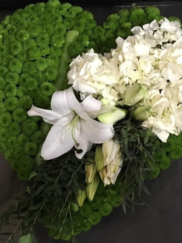 Coussin Blanc/Vert